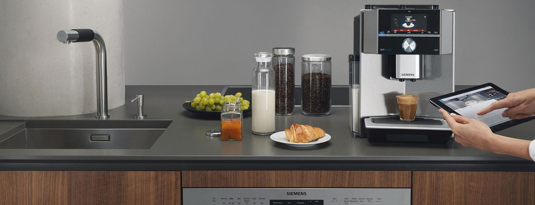 Siemens • Kaffeemaschine • Tablet • Smart Kitchen • der küchenmacher